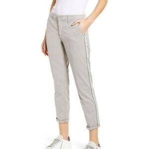 AG The Caden Stripe Crop Trouser in Florence Fog